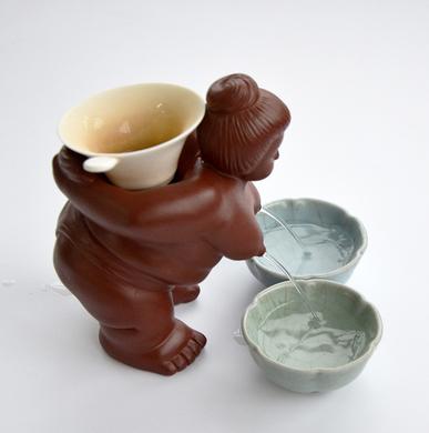 创意紫砂功夫茶喷水茶具