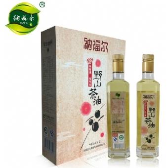 纳福尔野山茶油植物油 经典特制礼盒装500ML*2