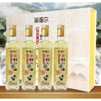 纳福尔野山茶油植物油 经典特制礼盒装500ML*4