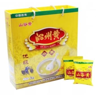 山西沁州黄小米 山谷黄 优质黄小米 礼盒2kg装