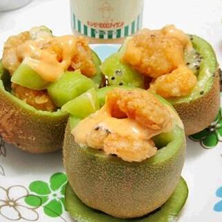 猕猴桃虾球沙拉