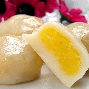 水晶奶黄包