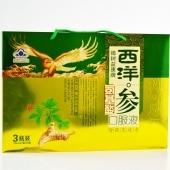 樟树益康牌西洋参氨基酸口服液礼盒装250ml*3瓶缓解体力疲劳洋参饮品赠品