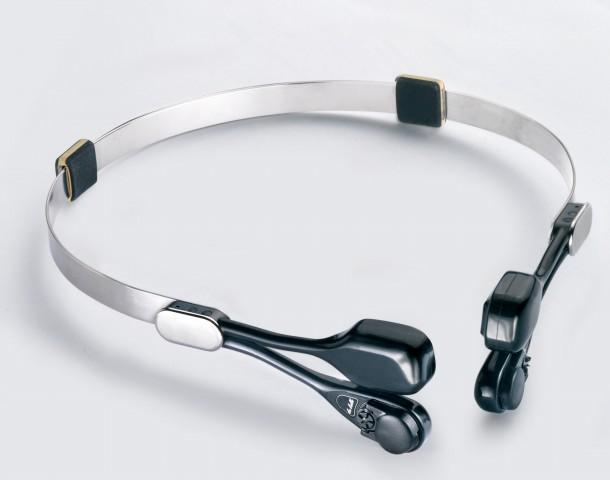 拉贝头夹式骨导助听器