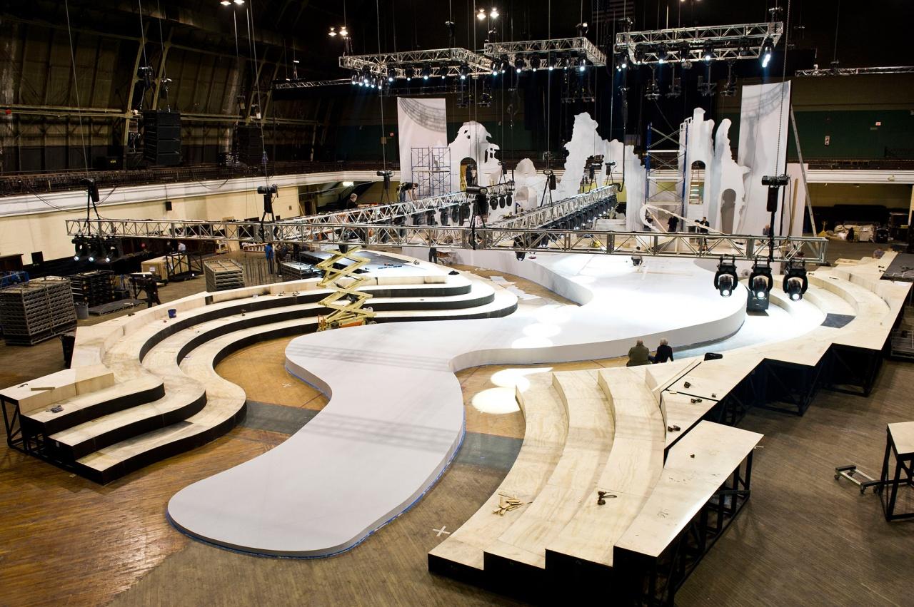 舞台搭建 异型舞台制作