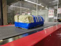 空运毛纺布货物过安检