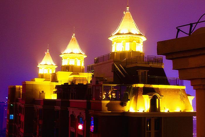 小區屋頂景觀照明項目