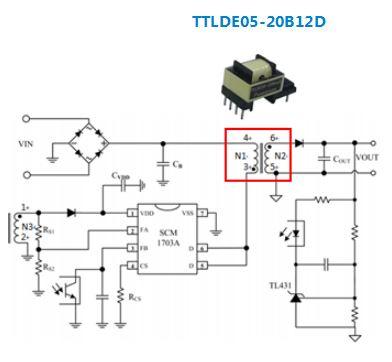金升阳推出适用于5W以下的AC/DC汽车级隔离直插式变压器