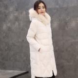 468元独特狐狸毛领连帽中长款显瘦羽绒服2016女装冬季反击清仓