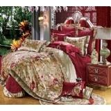 1368元特惠欧式奢华 家纺贡缎绣花纯棉床上用品婚庆套件 十件套多件套