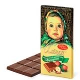 厂家直销进口俄罗斯巧克力榛仁可可粉爱莲巧巧克力100g一件代发