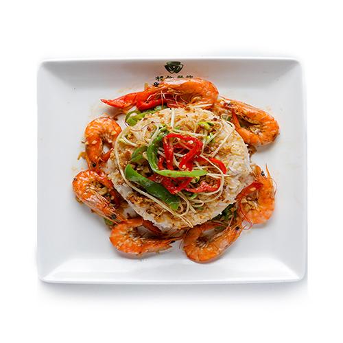 基围虾焖饭