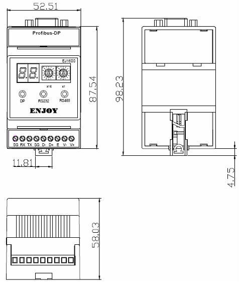 EJ1600外观尺寸图
