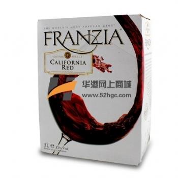 美国FRANZIA风时亚干红葡萄酒3L单杯