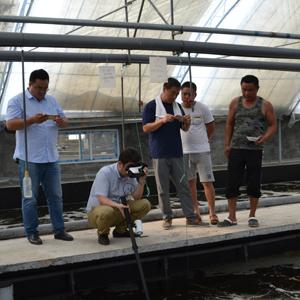 iView2在透明度25cm左右的对虾养殖池中依然可以清晰的观测养殖池中情况