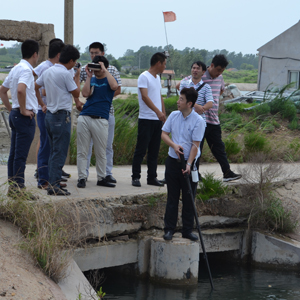 青岛瑞滋海参育苗项目顺利通过验收浑浊水下摄影机在项目验收过程中使专家可以直接观测水底海参幼苗