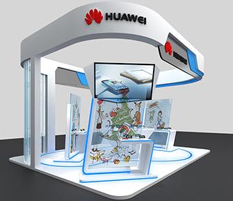 华为4G移动业务客户体验区展位设计