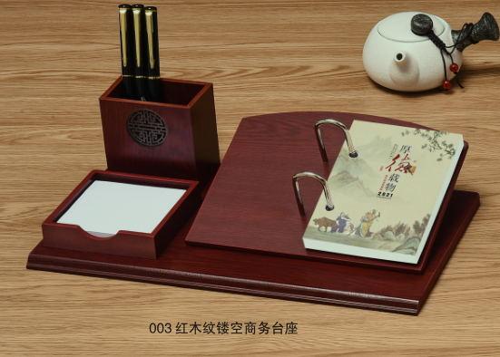 红木商务台历定制/定做印广告