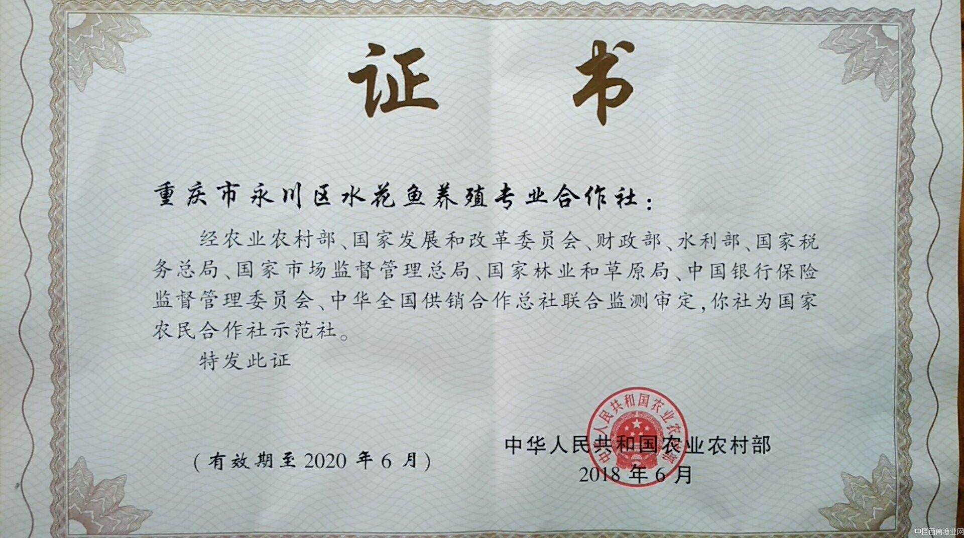 国家农民合作社示范社
