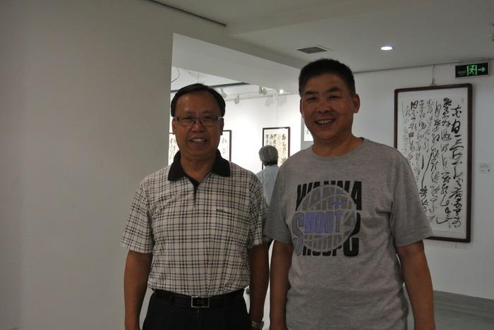 王登武与央视书画频道总监王平