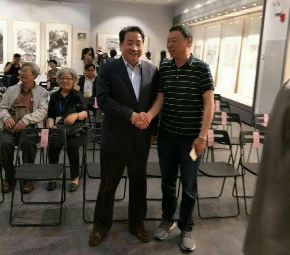 协会领导侯瞬晨参加刘海粟美术馆开馆仪式