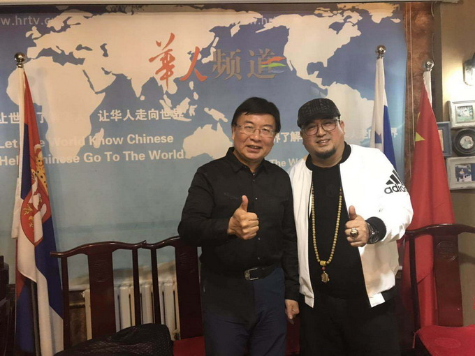 吴熙明和中央电视台主持人韩乔生
